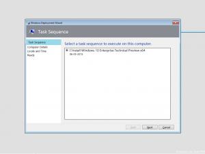 MDT Task Sequence list
